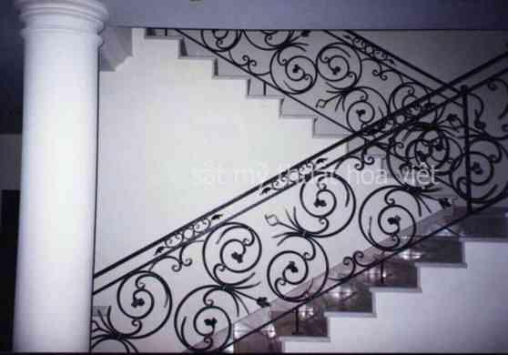cầu thang sắt nghệ thuật chữ U