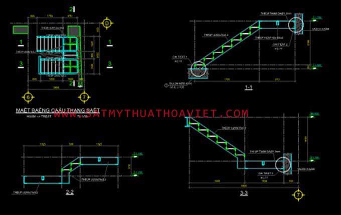 File card cầu thang sắt cơ bản