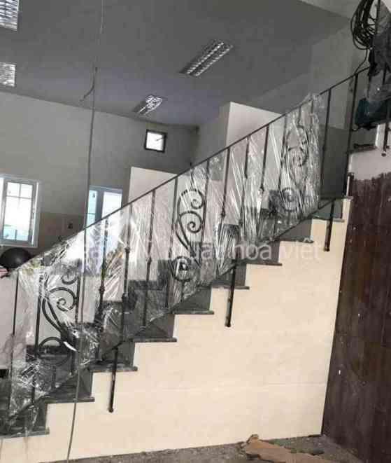 cầu thang sắt xương cá - cơ khí hoa việt