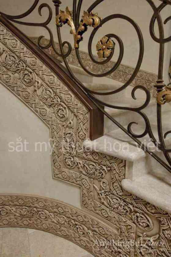 +19 mẫu cầu thang sắt hộp nghệ thuật đẹp