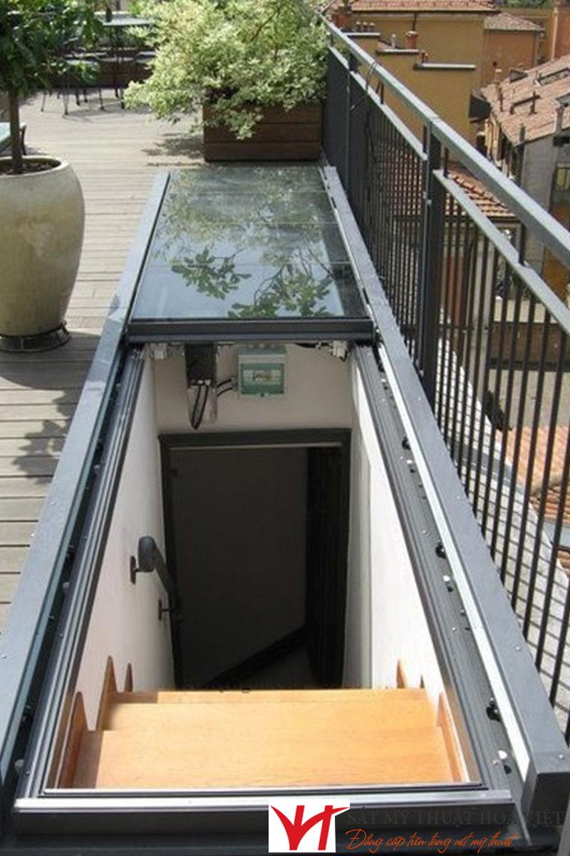 Top +10 cầu thang sắt lên sân thượng đẹp hiện nay