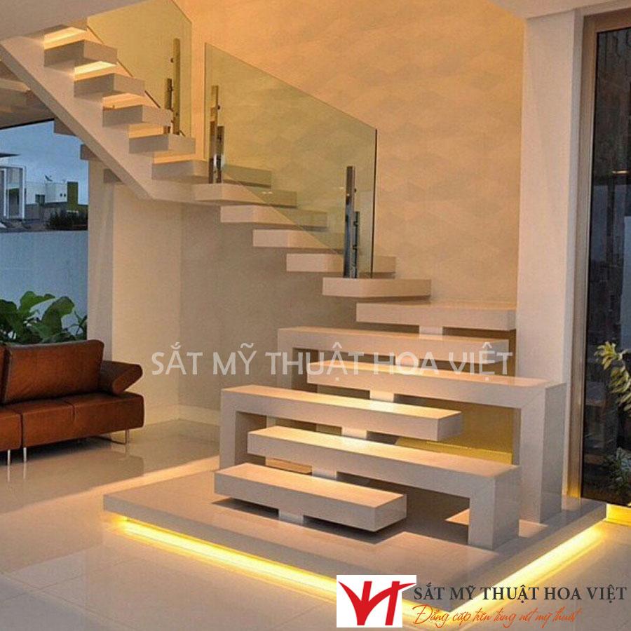 Mẫu cầu thang sắt dành cho ngôi nhà có diện tích nhỏ